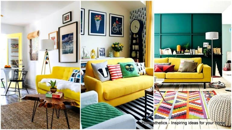 Inspiration on How to Style Around A Yellow Sofa