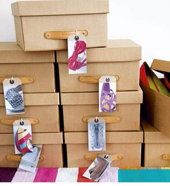 Organize with Photos on Shoe