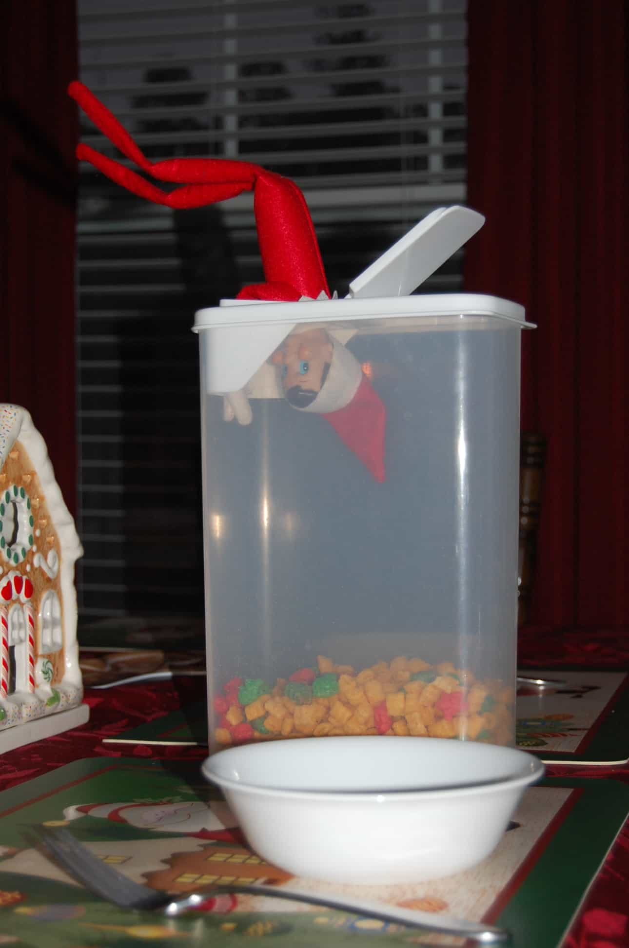 61. Elfie caught Stealing Cereal