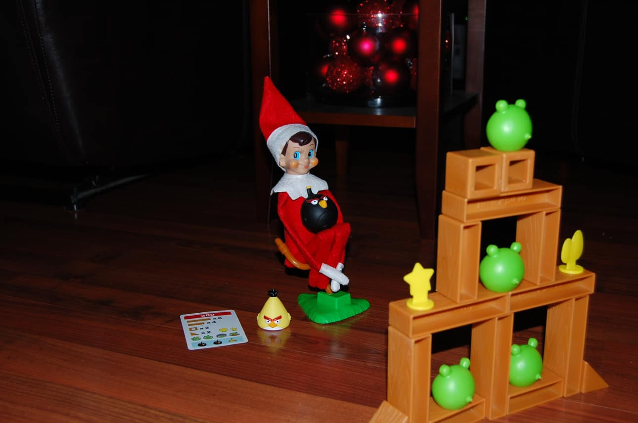 81. Elfie playing Angry Birds
