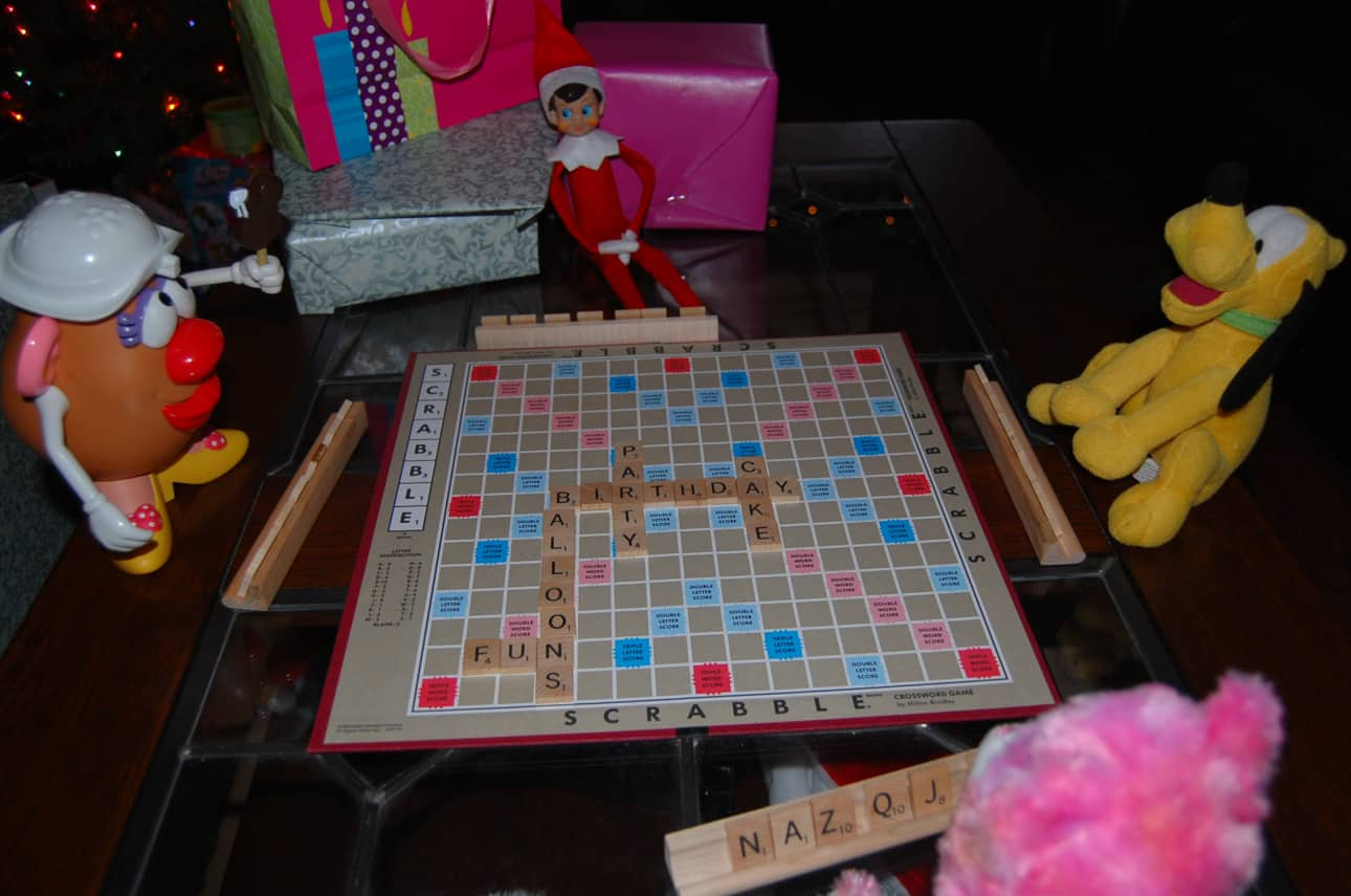 70. Elfie and Friends playing Scrabble