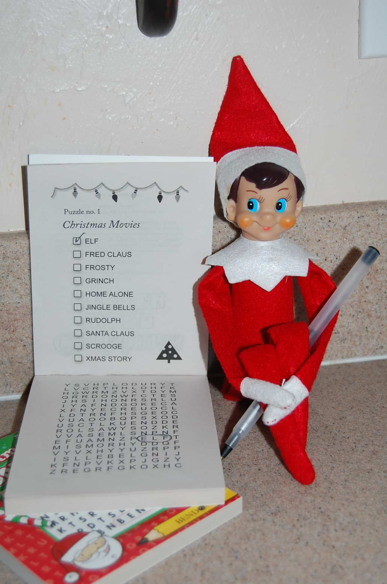 91. Elfie and the Christmas Crossword Puzzle