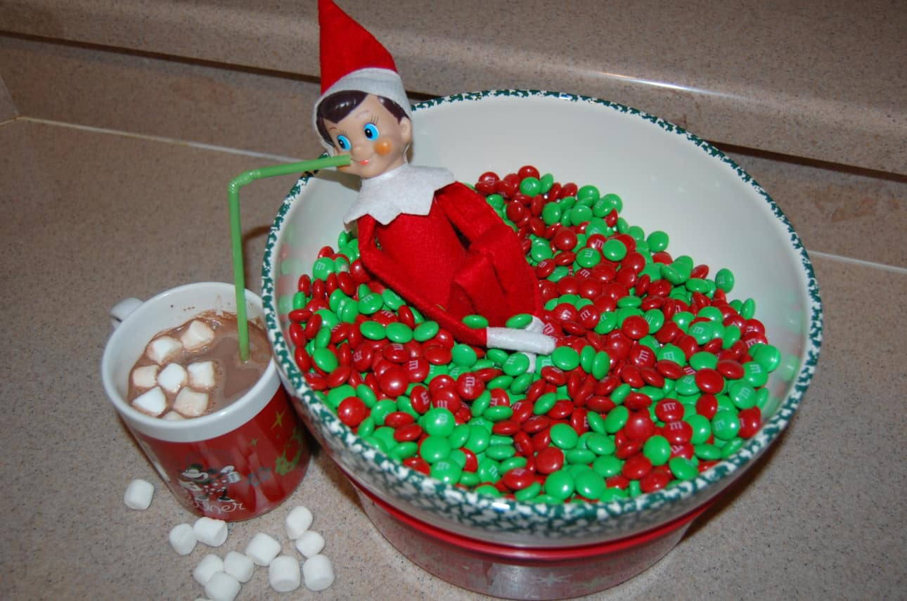 21.Swimming in a Bowl of M&Ms