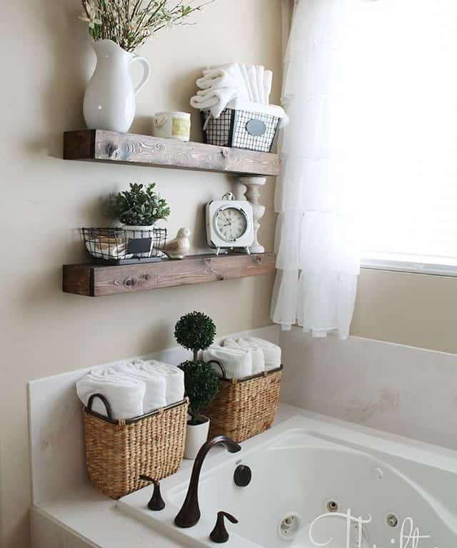 gorgeous design how to decorate a bathroom 20 diy floating shelves and bathroom update