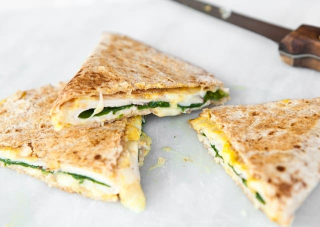 53. BRILLIANT HAM & CHEESE QUESADILLAS