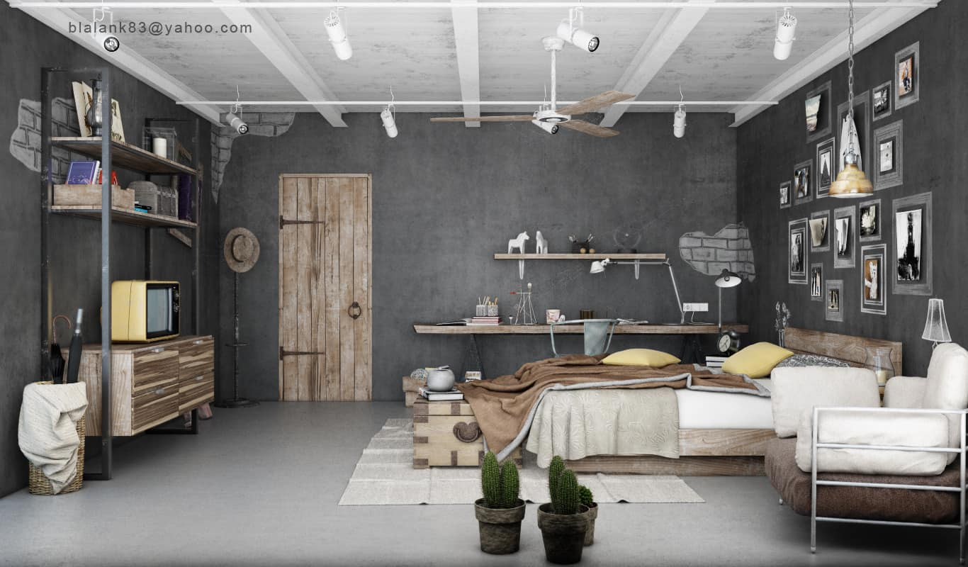 Wonderful 10 Cool And Distinctive Industrial Bedrooms That You Have To See    Homesthetics   Inspiring Ideas For Your Home.