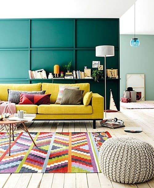 Simple Inspiration On How To Style Around A Yellow Sofa