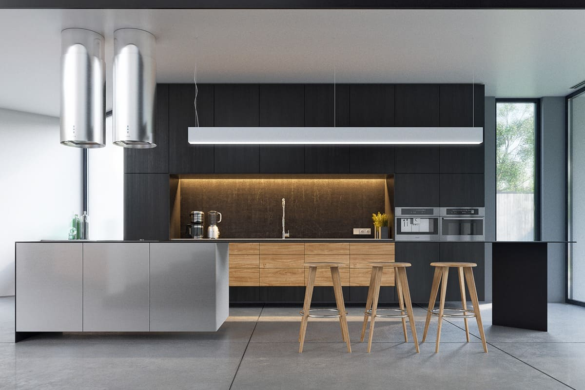 Outstanding Black And Wood Kitchens That Will Add Style To Your Home    Homesthetics   Inspiring Ideas For Your Home.