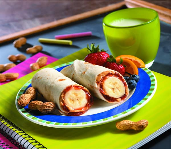 86. PB&J BANANA BURRITOS