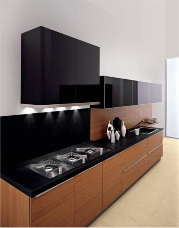 Outstanding Black and Wood Kitchens That Will Add Style To ...