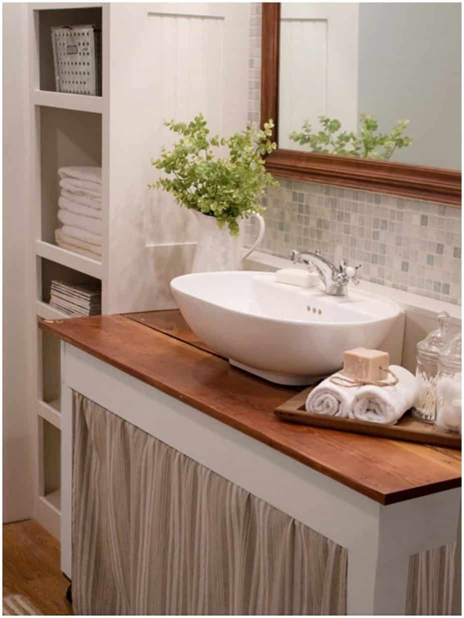 small bathroom grey color ideas. If you have open shelves and just can t stand to see the messy  simply add a small curtain that will keep everything out of sight 20 Smart Bathroom Storage Ideas That Will Impress You