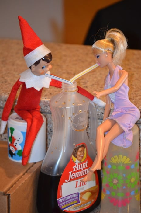 47. Elfie and Barbie sharing a Drink