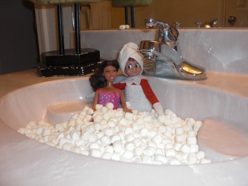 53. Elfie having an intimate moment in the Jacuzzi with Barbie