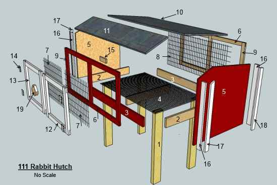 WOODWORKING SITE PROVIDES A FREE RABBIT HUTCH PLAN