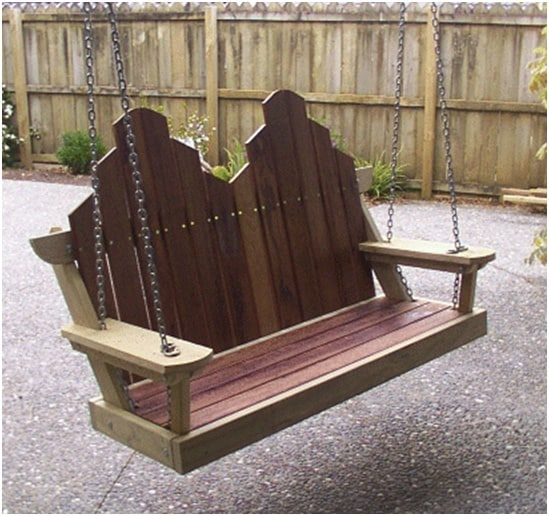 THE HIGH-BACK CARVED PORCH SWING