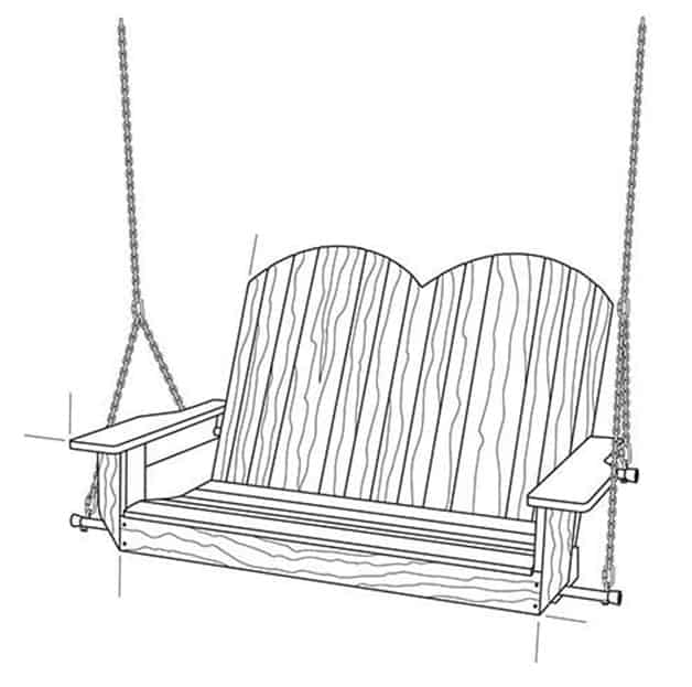 THE SIMPLE TWO SEATER PORCH SWING
