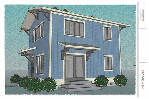 THE HYDRANGEA TINY HOUSE plan