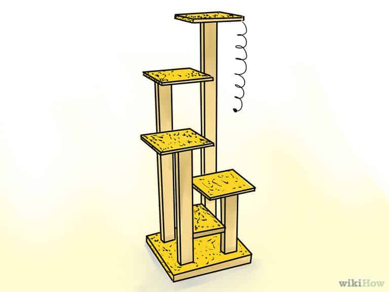 WIKIHOW SHOWCASES FREE CAT TREE PLAN
