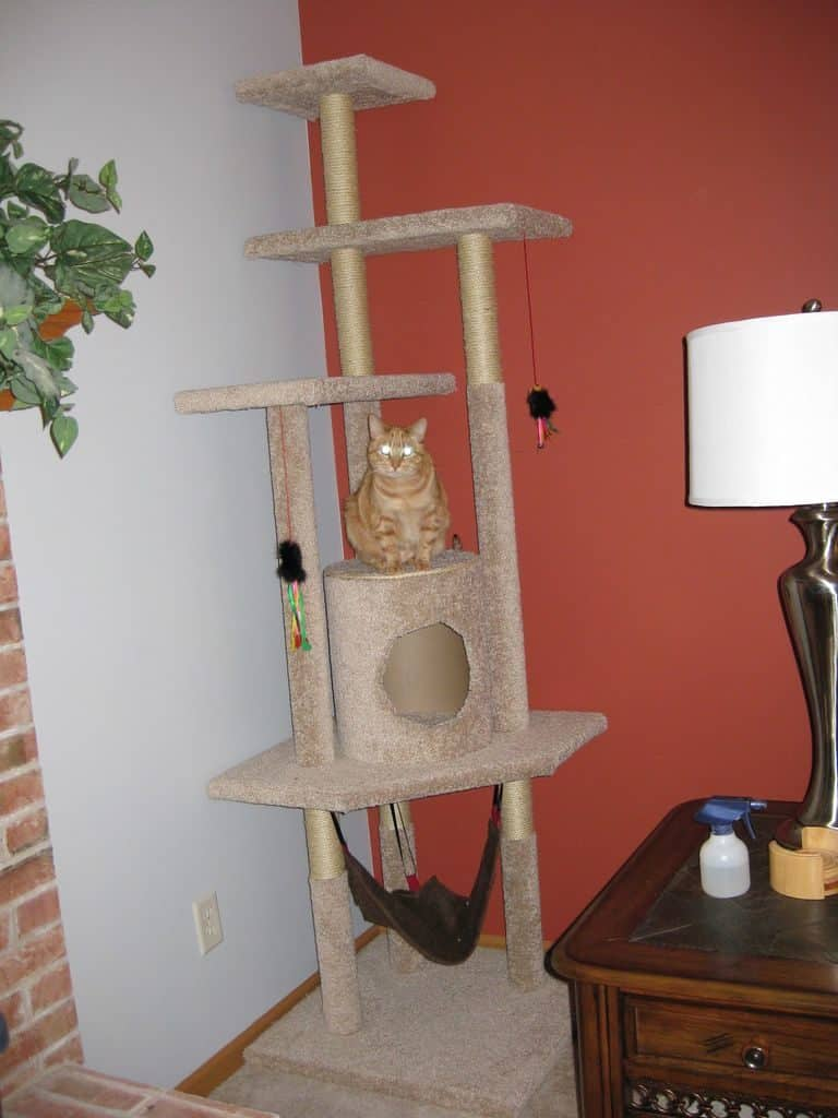 19 adorable free cat tree plans for your furry friend for Cat tree blueprints