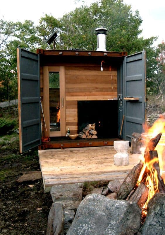 33 inexpensive diy wood burning hot tub and sauna design for How to build your own sauna
