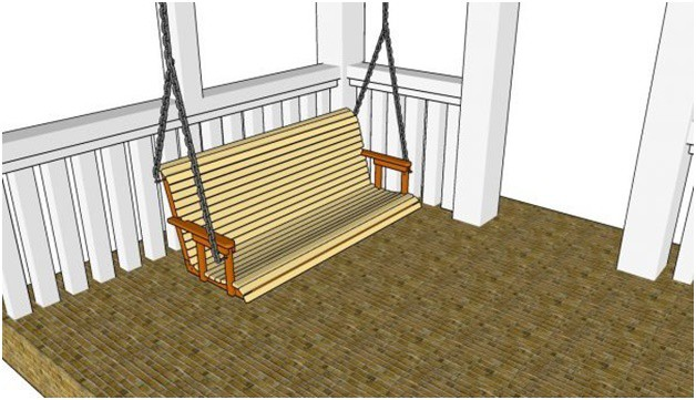 THE RETRACTABLE CUP HOLDER PORCH SWING