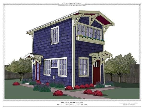 THE FOREST ROSE TINY HOUSE plan