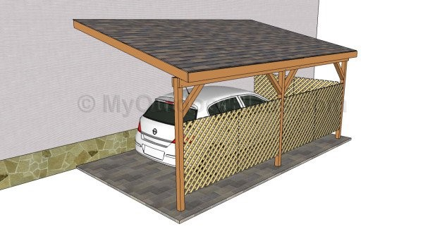 ATTACHED CARPORT PLAN plan