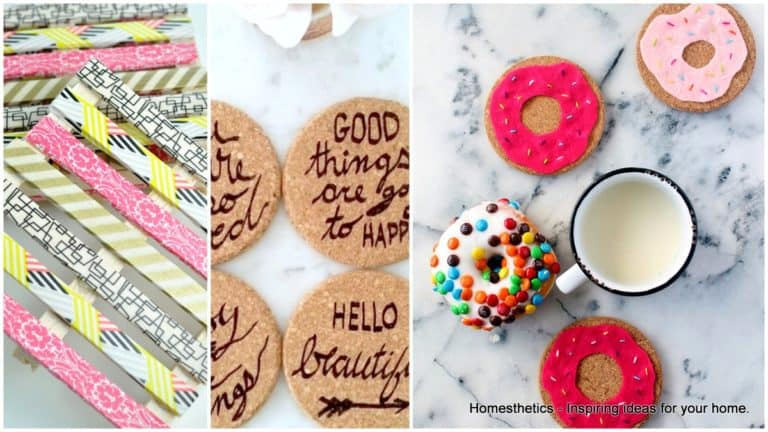 20 Adorable DIY Coasters That Are Easy To Make