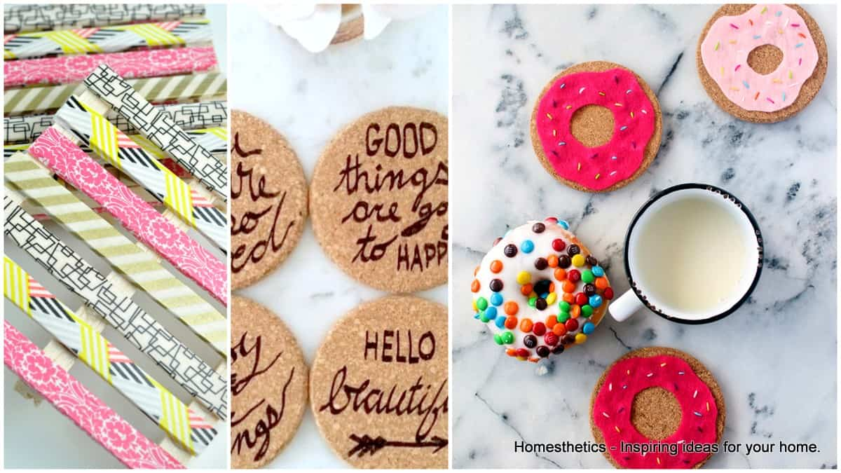 20 Adorable Diy Coasters That Are Easy To Make Homesthetics