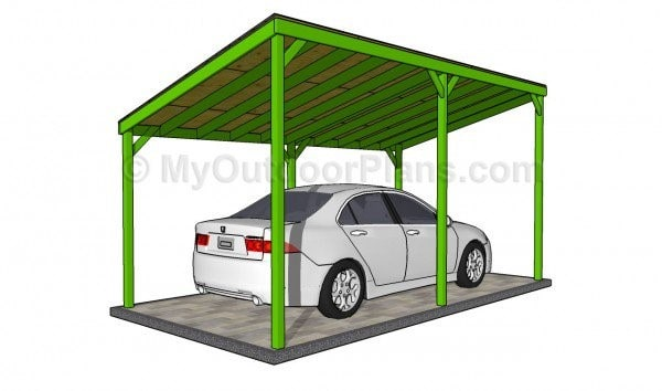 WOODEN CARPORT PLAN