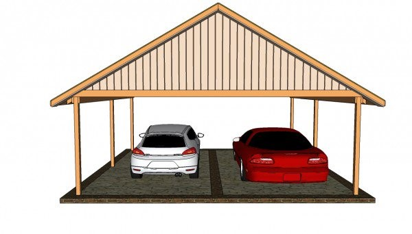 DOUBLE CARPORT PLAN
