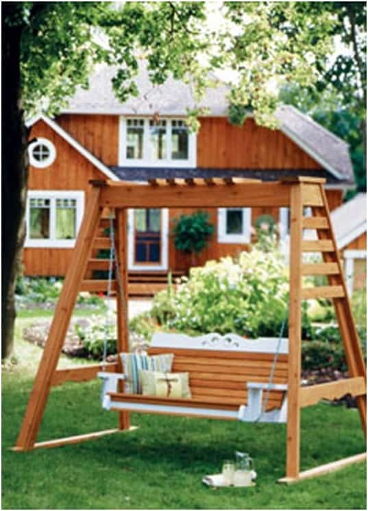 THE A-FRAME PORCH SWING plans