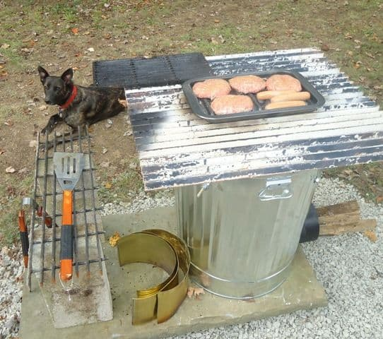 STOVE OUT OF A TRASH CAN?