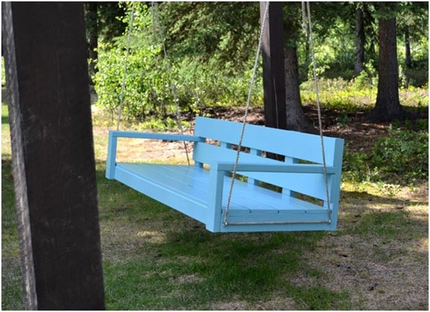 THE BLUE BENCH PORCH SWING