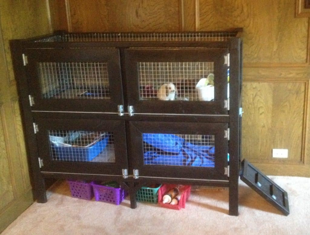 ANA WHITE`S FREE TWO STORY RABBIT HUTCH