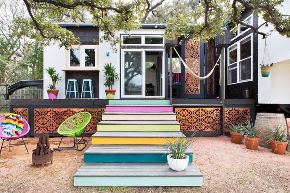 ELECTRICALLY COLORFUL tiny house plan