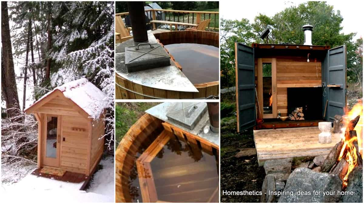 33 Inexpensive DIY Wood- Burning Hot Tub and Sauna Design Ideas