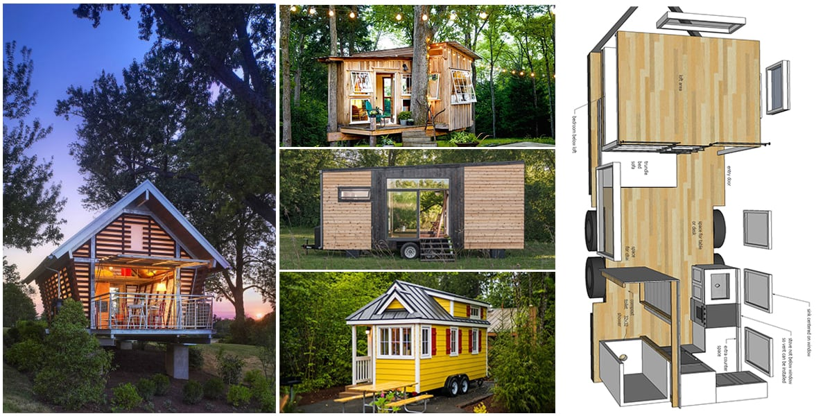 37 Free DIY Tiny House Plans for a Happy & Peaceful Life In