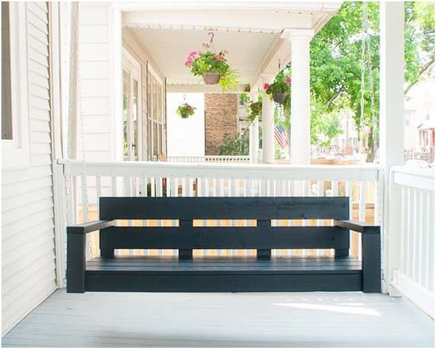 THE NAVY BLUE PORCH SWING