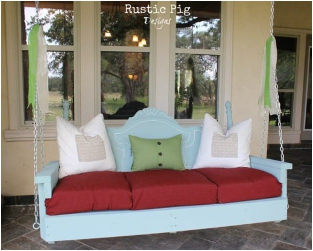 THE HEADBOARD PORCH SWING