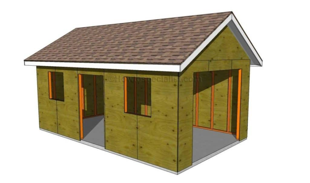 23 free detailed diy garage plans with instructions to for Building a detached garage on a slope