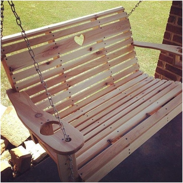 THE CARVED HEART PORCH SWING plan