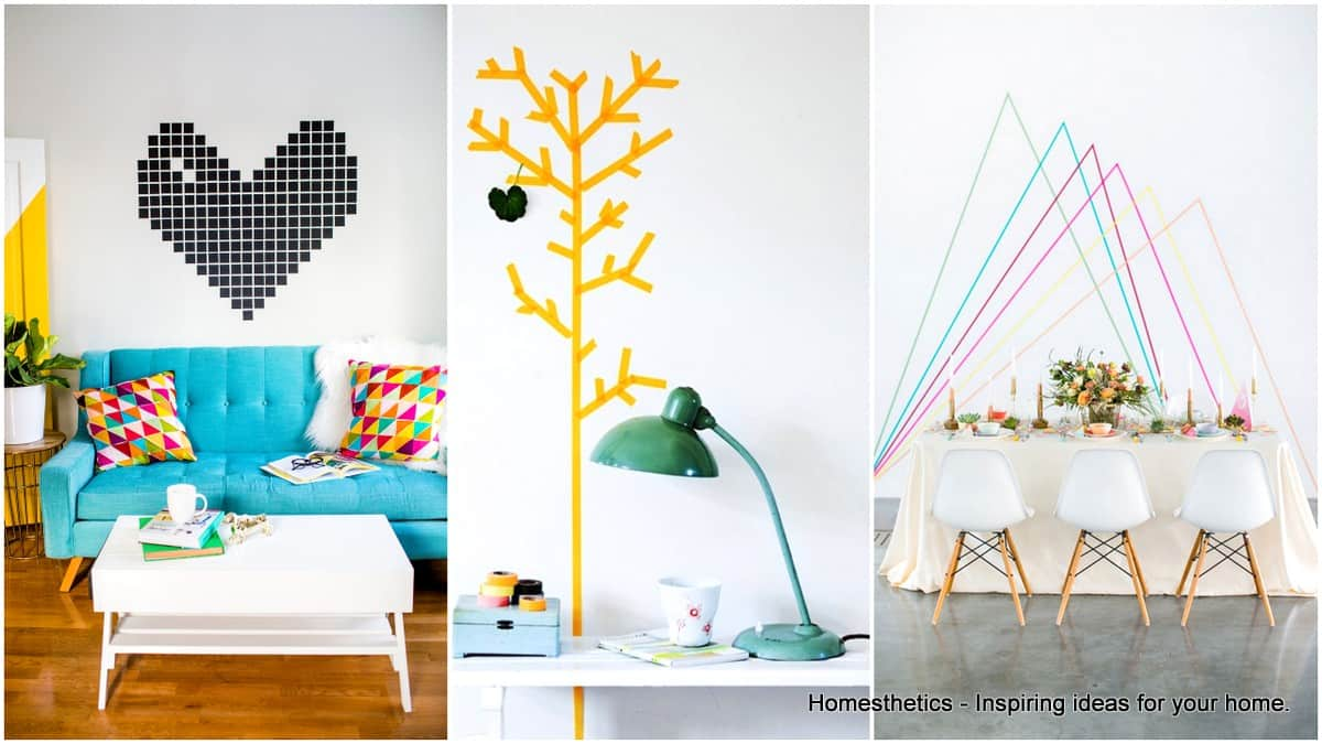 Creative Ways To Use Washi Tape In Home Decoration - Homesthetics ...