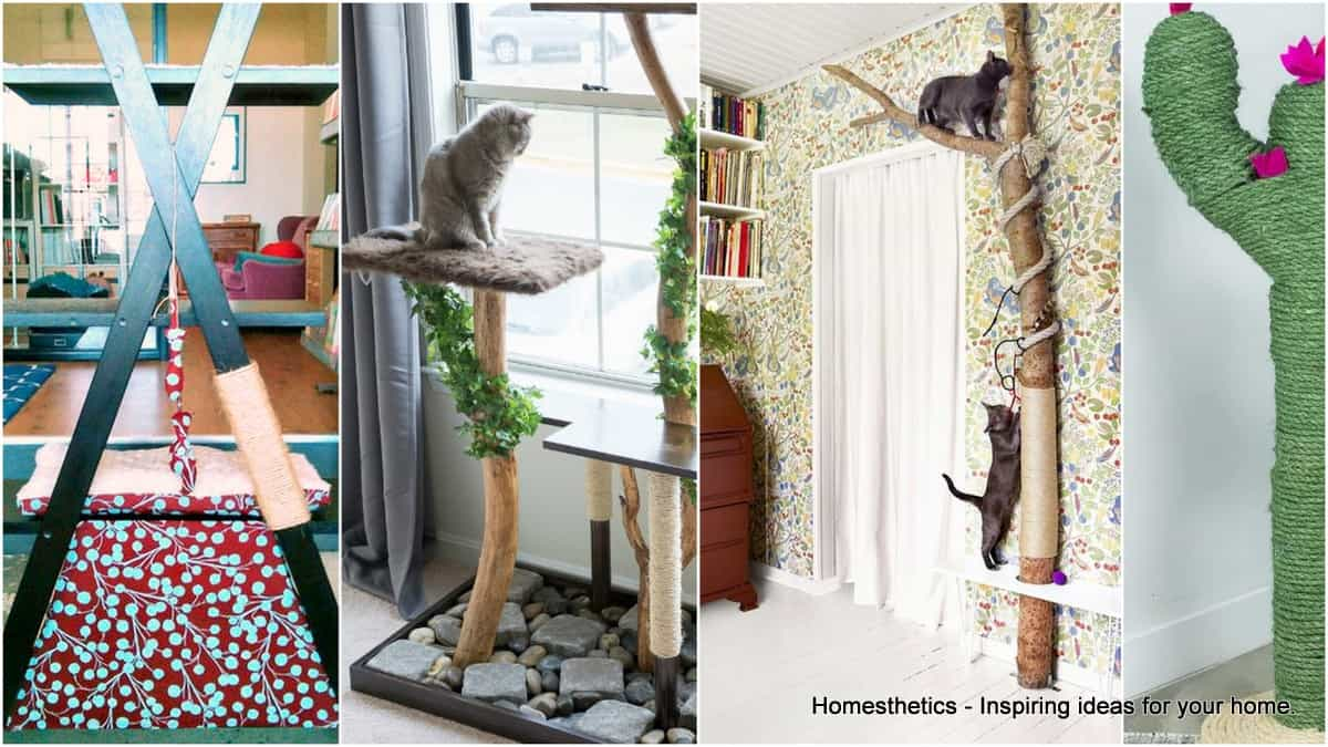 19 Adorable Free Cat Tree Plans For