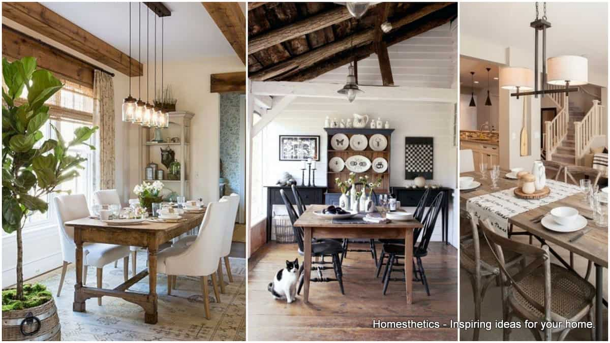 Attirant 20 Splendid Rustic Dining Rooms That Will Inspire You
