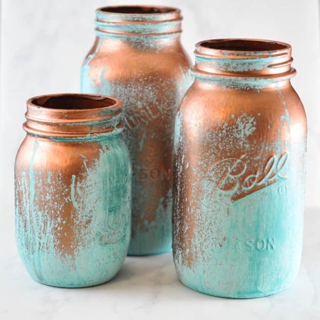 Mason Jars With Patina Activating Solution Suburble.com 1 of 1