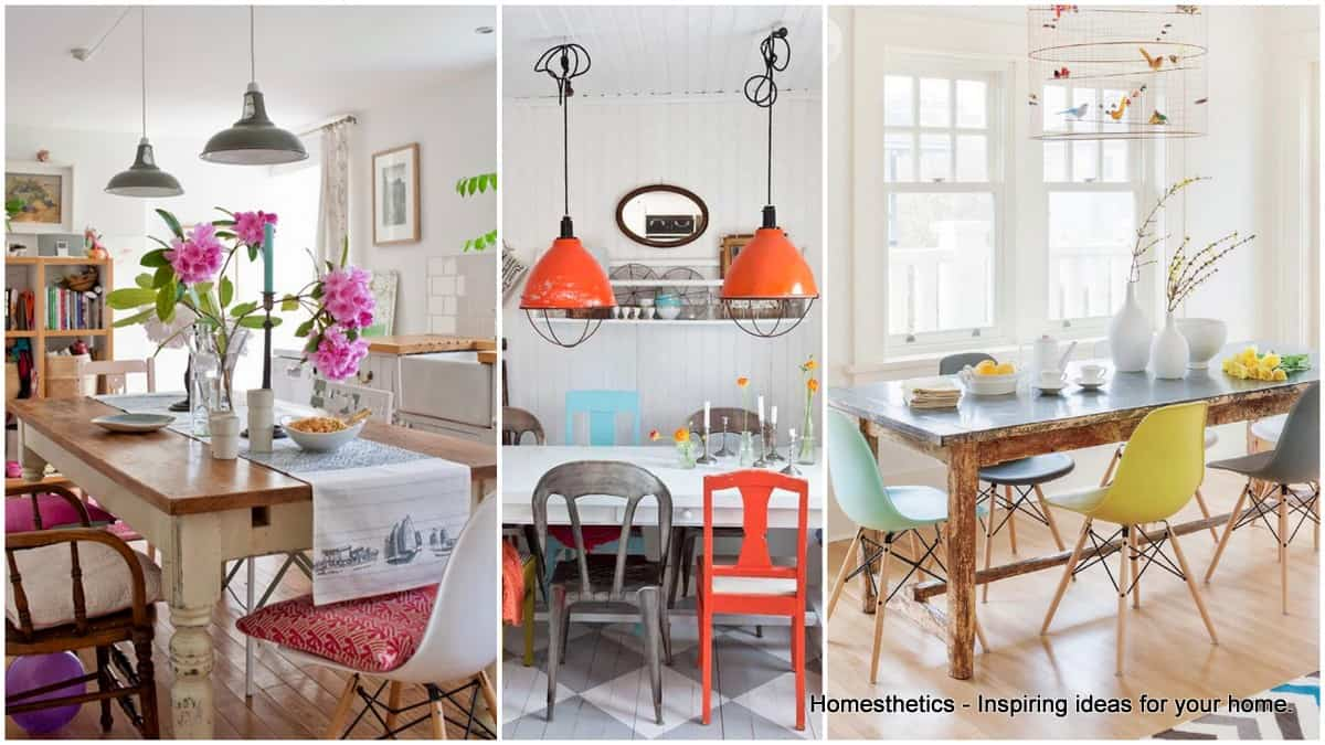Mismatched Chairs Designs Unique Touch To