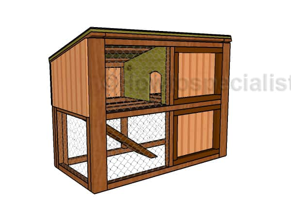 HOWTOSPECIALIST`S FREE RABBIT HOUSE PLAN TUTORIAL