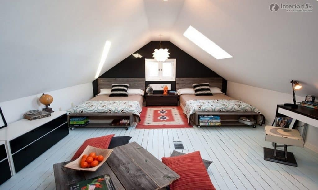 Attic Bedroom Paint Ideas Attic Bedrooms With Slanted Ceilings
