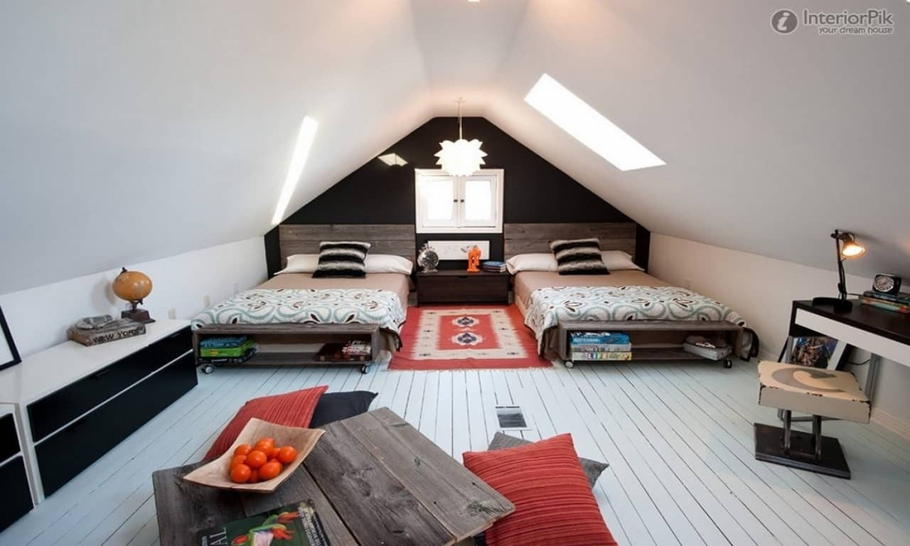 attic bedroom paint ideas attic bedrooms with slanted ceilings e4a2c0799fdafce7